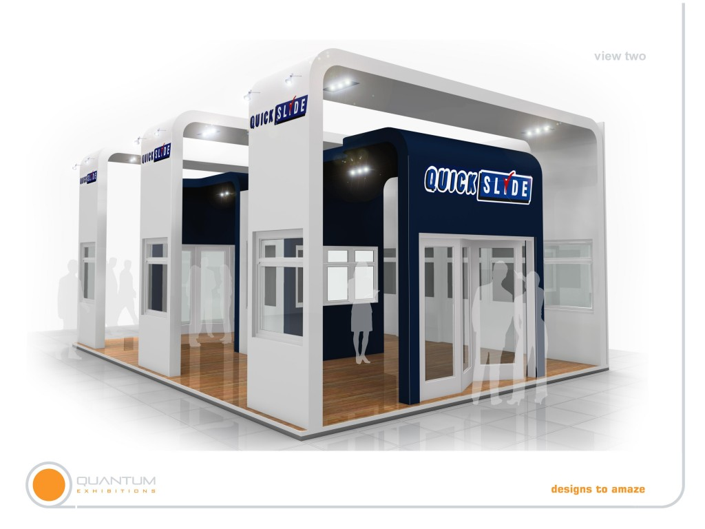 Quickslide's Fit Show 2013 Exhibition Stand will 'Save a trip to Yorkshire'
