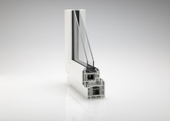CPR1826a REHAU TOTAL70c 5 chamber 72mm outerframe as used by Shepley Windows