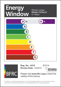PR1836 REHAU has updated its online thermal calculator with the new BFRC A+ rating