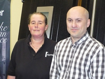 New production managers Irene Wilson and Trevor Peacock - Oct 2013