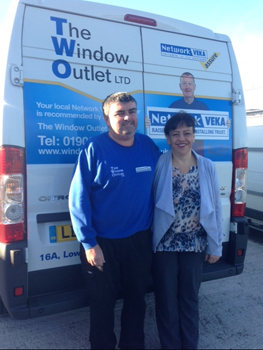 Graeme and Annmarie Pritt of The Winow Outlet