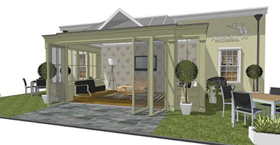 timber orangery to provide focal point at grand designs. Black Bedroom Furniture Sets. Home Design Ideas