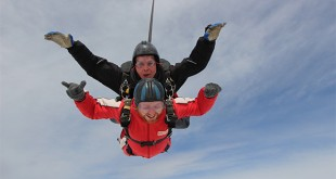 BM250 Nick Bailey  (in red) enjoying his skydiving experience set up by Sliders UK copy