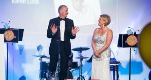 Steve Davis and Karen Lund presented the awards