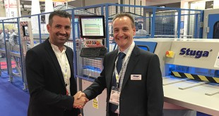 Martin Linden from Polyframe Livingston, left., with Gareth Green, right, from Stuga