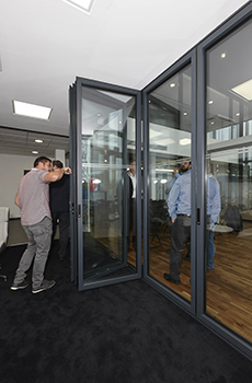 ALUK37 Members of the AluK Luminia Select Partnr scheme getting to grips with the new F82 door