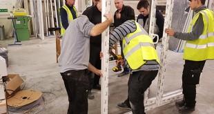 First AGILA Sliding Door manufactured by Caledonia Doors, Cumbernauld.