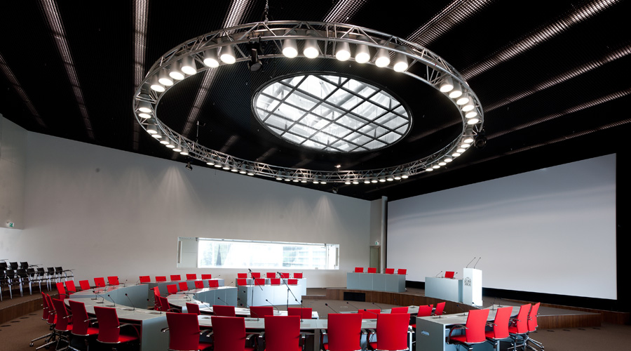 SageGlass skylights solve urgent sun glare problem for Dutch government building