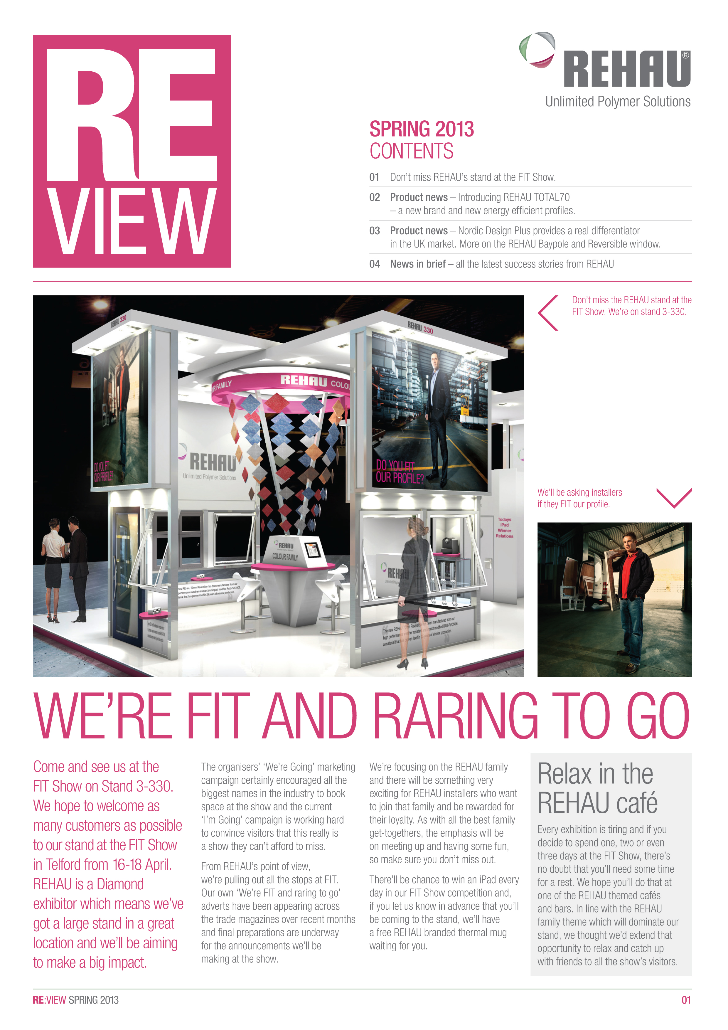 REHAU LAUNCHES ITS OWN FIT SHOW NEWSLETTER