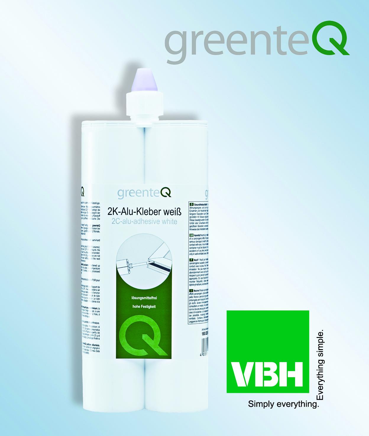 VBH Adds greenteQ Aluminium Adhesive