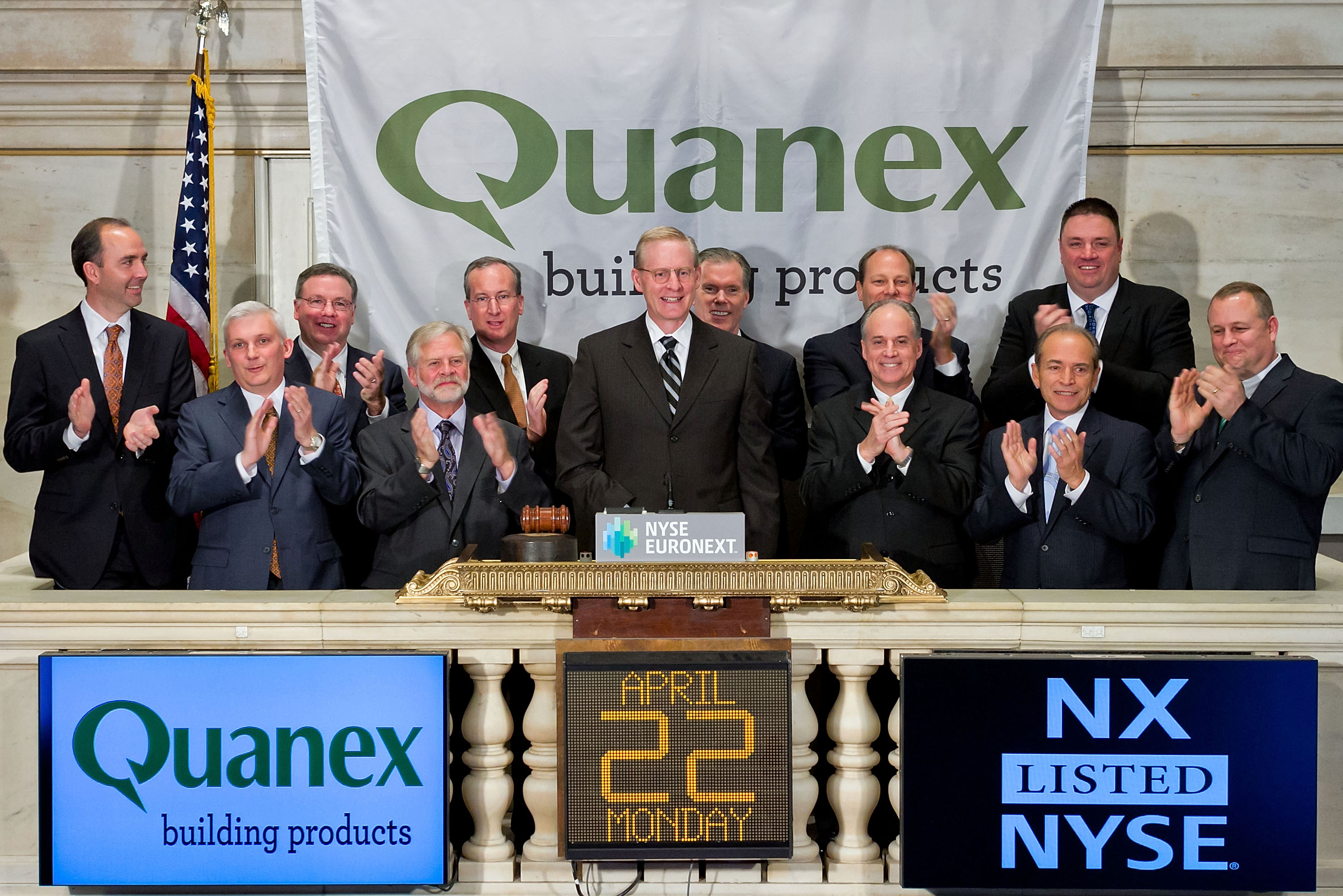 Quanex Rings the NYSE Closing Bell on April 22