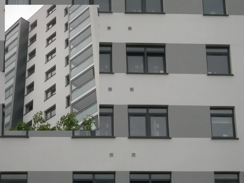 GLAZERITE GOES GREY TO MATCH ALUMINIUM IN TOWER BLOCK REFURB