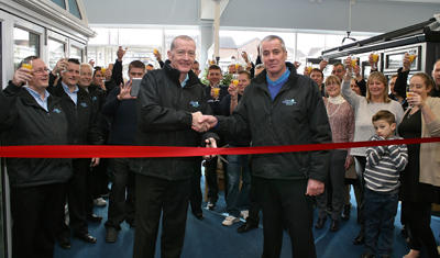 Frames and Conservatories Direct celebrates with Steve Davis