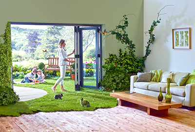 The combination of VEKA innovation and Modplan service means the Imagine Bi-Fold Door is proving a winner