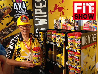 BIG WIPES CLEANS UP IN HALL 1A AT FIT SHOW 2014