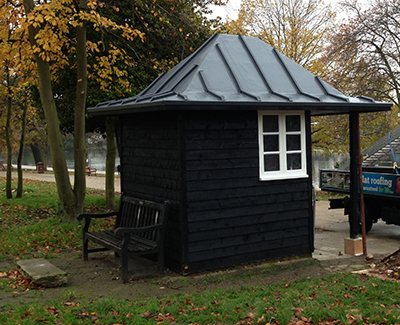 NEW Lead Look Roof for Refurbished Park Shelter
