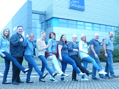 A Jean-ius Fund Raiser! Carl F Groupco Does Double Denim For Charity