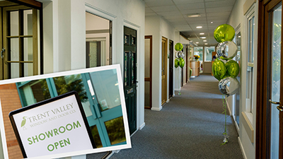 TRENT VALLEY LAUNCHES NEW SHOWROOM – AND GETS READY FOR CONSERVATORIES