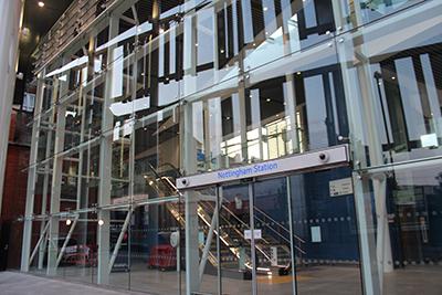 Blast Enhanced Facade Completed at Nottingham Station Transport Hub