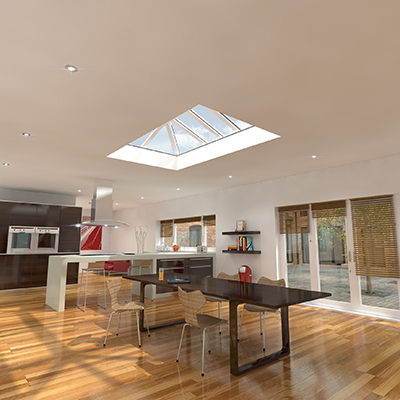Frame Fast's PVC-U Skypod® offers everything style-conscious and cost-conscious homeowners want from a skylight