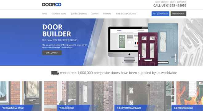 DOORCO BOOSTS ONLINE PRESENCE WITH IMPROVED ONLINE ORDERING  AND EXCITING NEW WEBSITE