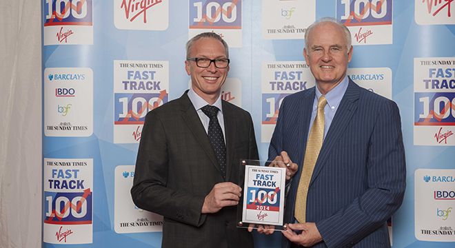 Distinction Doors duo attend Fast Track 100 conference and awards dinner at Richard Branson's family home