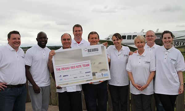 REHAU'S REDKITE TEAM JUMPS FOR CHARITY