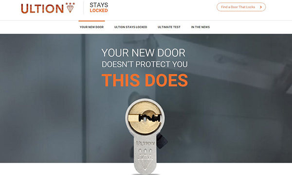 Ultion's new website helps installers sell doors