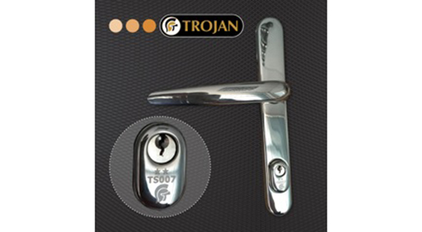 TROJAN'S NEW TS007 2* HIGH SECURITY DOOR HANDLE OFFERS EVERYTHING YOU'D EXPECT FROM A TROJAN PRODUCT