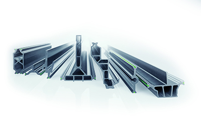 insulbar RE insulating profiles aid the thermal separation of metal windows, doors and façades. They are made from unmixed recycled polyamide. Source: Ensinger GmbH