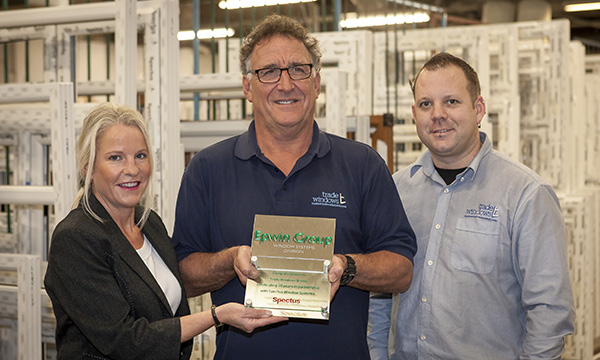 TRADE WINDOWS CELEBRATES 30 YEARS WITH SPECTUS – BY SIGNING FOR THREE MORE