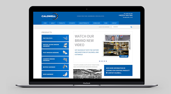 SOPHISTICATED NEW WEBSITE FOR INDUSTRY GIANTS CALDWELL GROUP