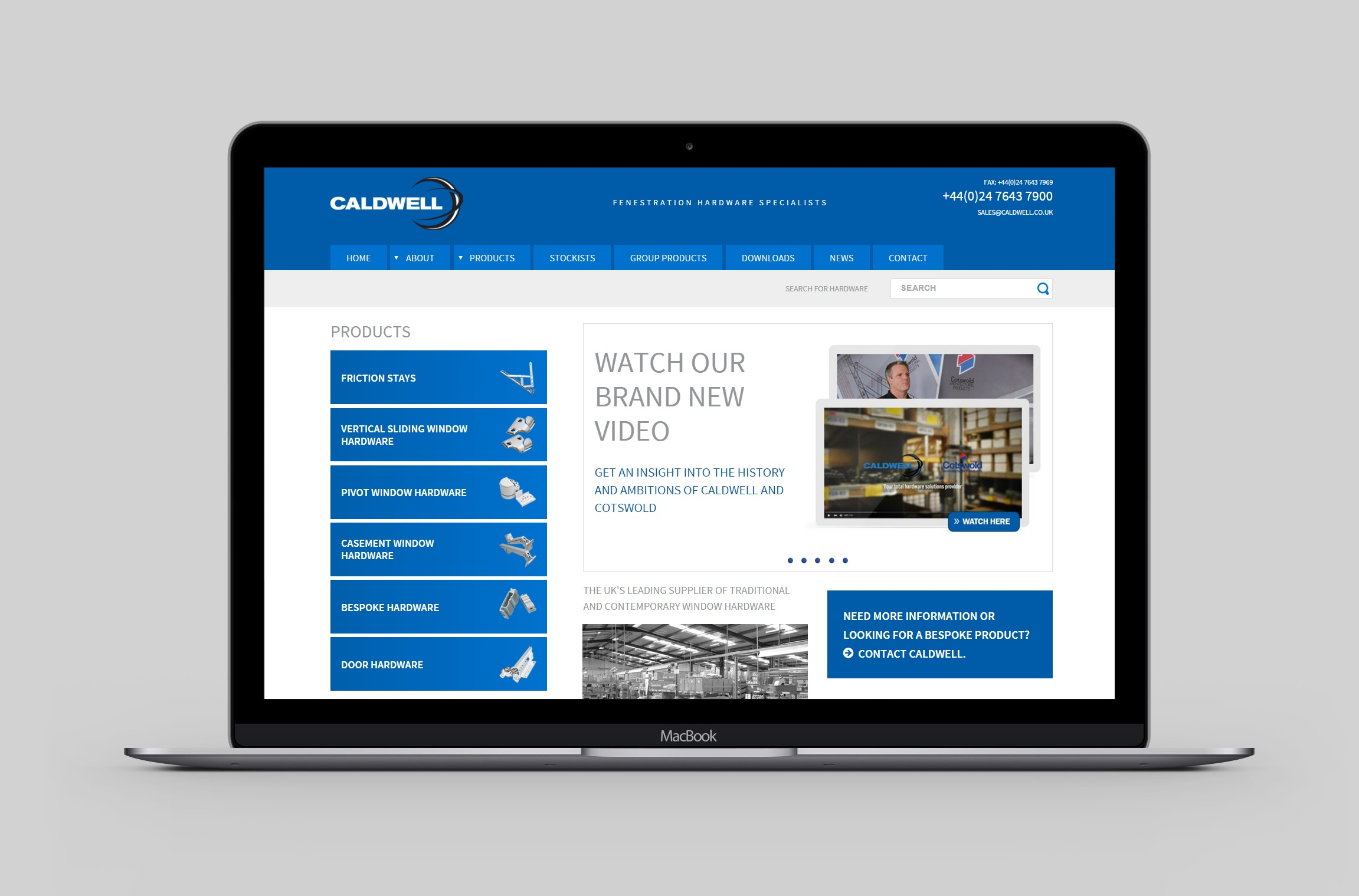 GLOBAL HARDWARE SPECIALIST STRENGTHENS UK BRAND WITH WEBSITE LAUNCH