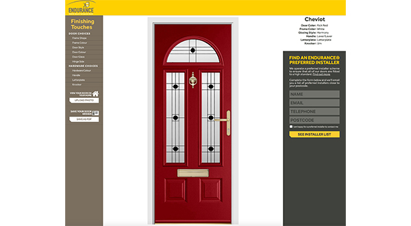 ENDURANCE LAUNCHES ONLINE DOOR DESIGNER