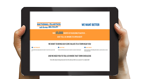 HERE'S HOW TO BRING A NATIONAL PLASTICS' STORE NEAR YOU (AND WIN £5,000 OF BUILDING PLASTICS AT THE SAME TIME)