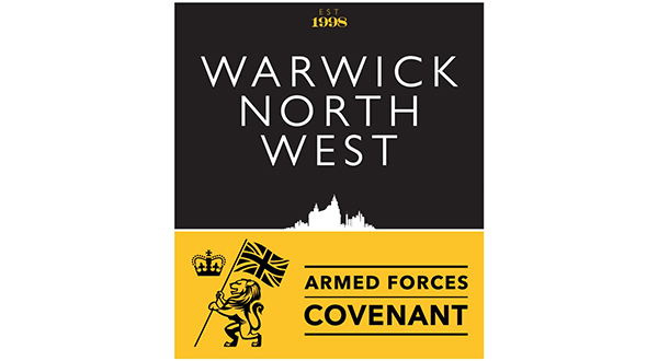 WARWICK NORTH WEST MAKES MILITARY COVENANT COMMITMENT