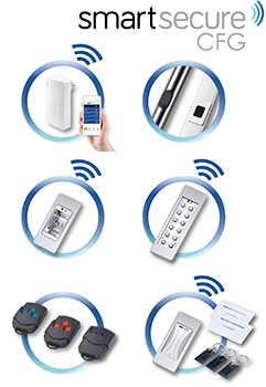 SmartSecure's extensive range of optional radio access control systems include SmartConnect easy and SmartTouch comfort.