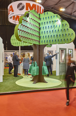 MILA270 A giant Mila tree showcasing the Carbon Trust certified GRIP Colour handles was the centrepiece of the stand 1
