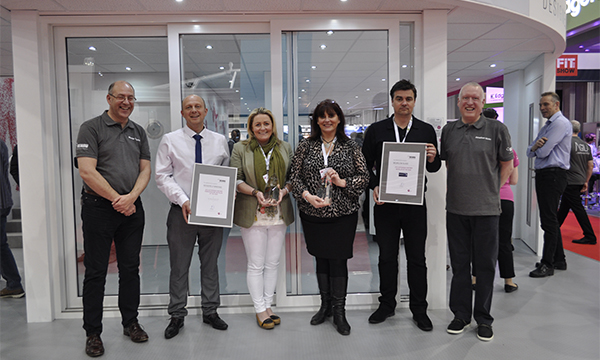SEDGEFIELD WINDOWS AND WILMSLOW GLASS PICK UP TROPHIES FROM REHAU AT FIT