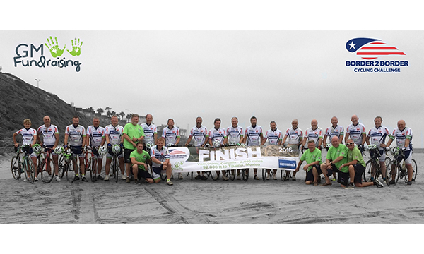 GM FUNDRAISING COMPLETES THE BORDER2BORDER CYCLING CHALLENGE