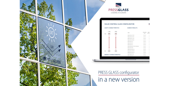 PRESS GLASS CONFIGURATOR IN A NEW VERSION