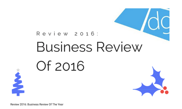 Review 2016: Business Review Of The Year