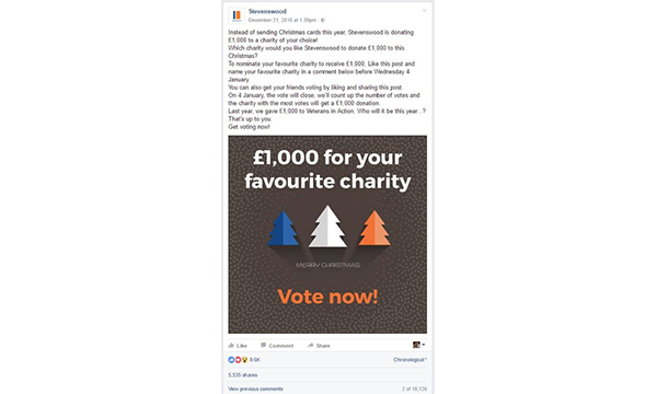 £1,000 FOR CHARITY GOES VIRAL ON FACEBOOK