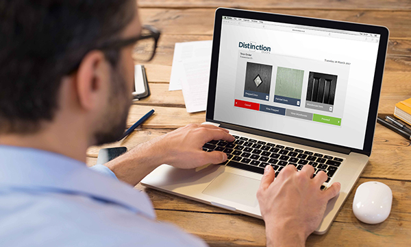 DISTINCTION DOORS' ONLINE ORDERING EXAMPLE OF MARKET-LEADING CUSTOMER SUPPORT