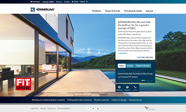 KÖMMERLING DELIVER IMPRESSIVE NEW WEBSITE