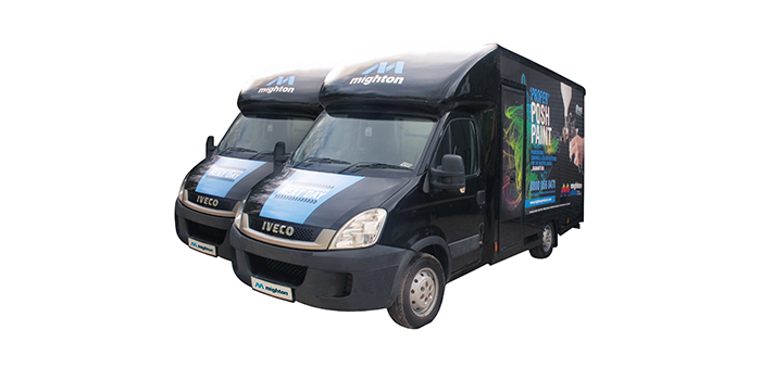 MIGHTON EXTENDS ITS FLEET WITH TWO DEMO VANS