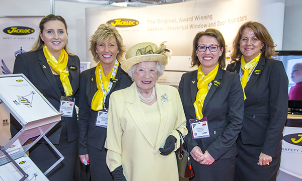 THE QUEEN JOINS CABLE RESTRICTOR SPECIALISTS JACKLOC AT THE FIT SHOW