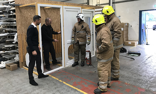 POLYFRAME EXTINGUISHES MYTHS ABOUT LOCKS WITH LOCAL FIRE CREW