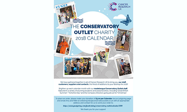 CONSERVATORY OUTLET LTD GET CREATIVE FOR CANCER RESEARCH UK