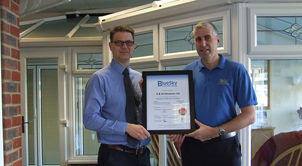 Simon Beer, Managing Director, Bluesky Certification with Mark Page, Director at R&M Windows.